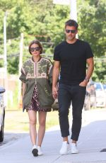OLIVIA PALERMO and Johannes Huebl Out in Brooklyn 08/10/2019