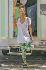Pregnant CHRISTINA MILIAN at Beignet Box Food Truck in Los Angeles 08/10/2019