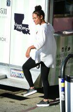 Pregnant CHRISTINA MILIAN at Beignet Box Mobile Unit in Los Angeles 08/09/2019