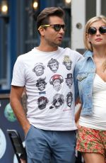 Pregnant RACHEL RILEY and Pasha Kovalev Out for Lunch in Marylebone in London 08/08/2019