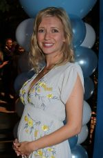 Pregnant RACHEL RILEY at Evita Press Night After-party in London 08/08/2019