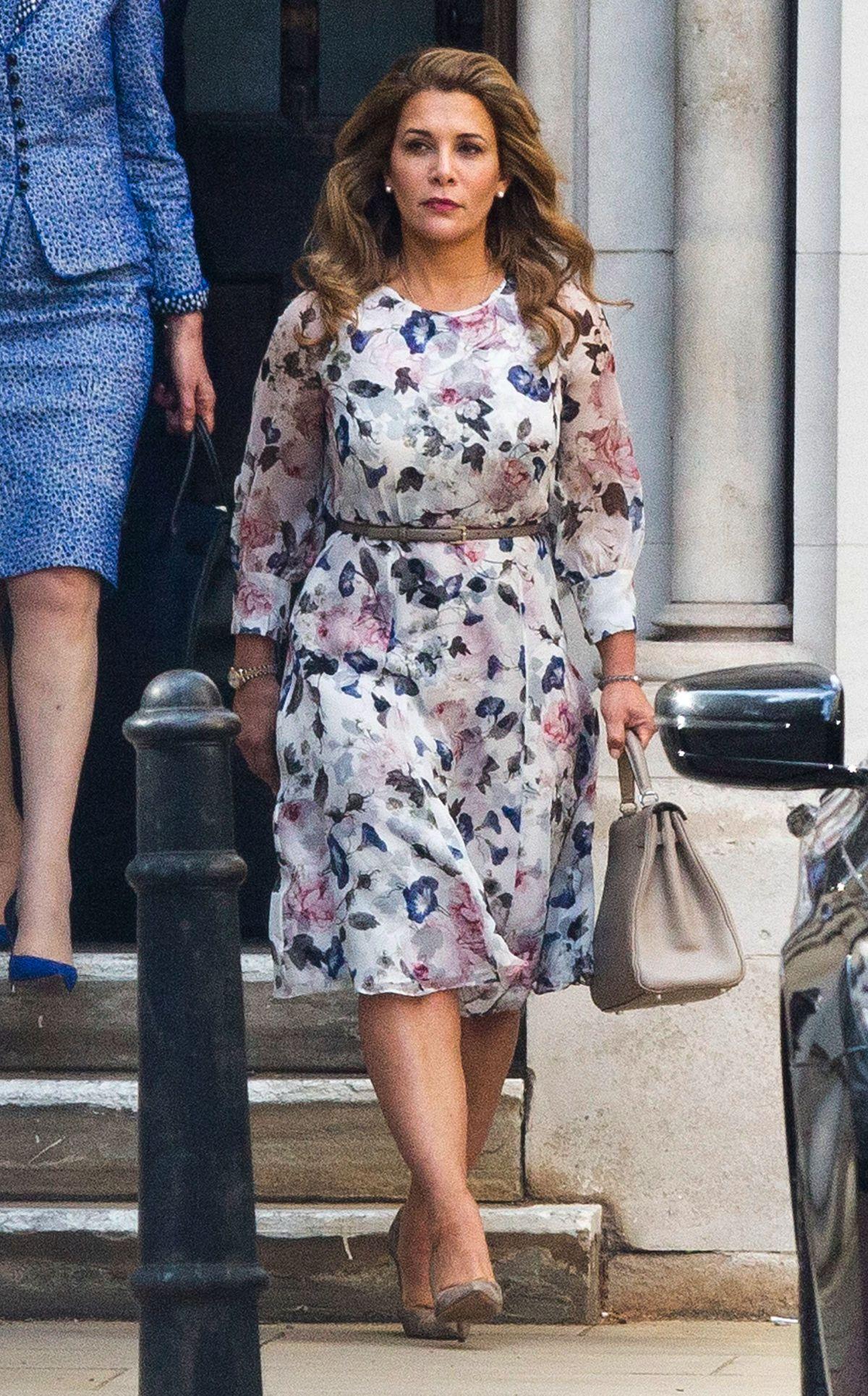 PRINCESS HAYA BINT AL HUSSEIN Arrives at High Court in