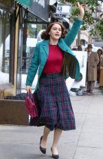 RACHEL BROSNAHAN on the Set of Marvelous Mrs. Maisel in New York 08/27/2019