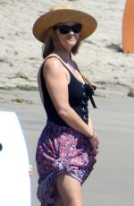 REESE WITHERSPOON in Swimsuit at a Beach in Malibu 08/25/2019