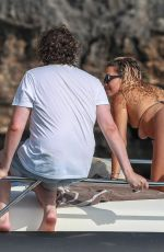 RITA ORA in Bikini on Vacation in Porto Cervo 08/14/2019