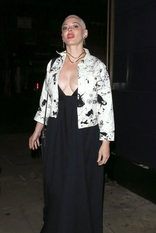 ROSE MCGOWAN at Chiltern Firehouse in London 08/28/2019