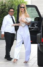 ROSIE HUNTINGTON-WHITELEY Arrives at a Business Lunch in Beverly Hills 08/15/2019