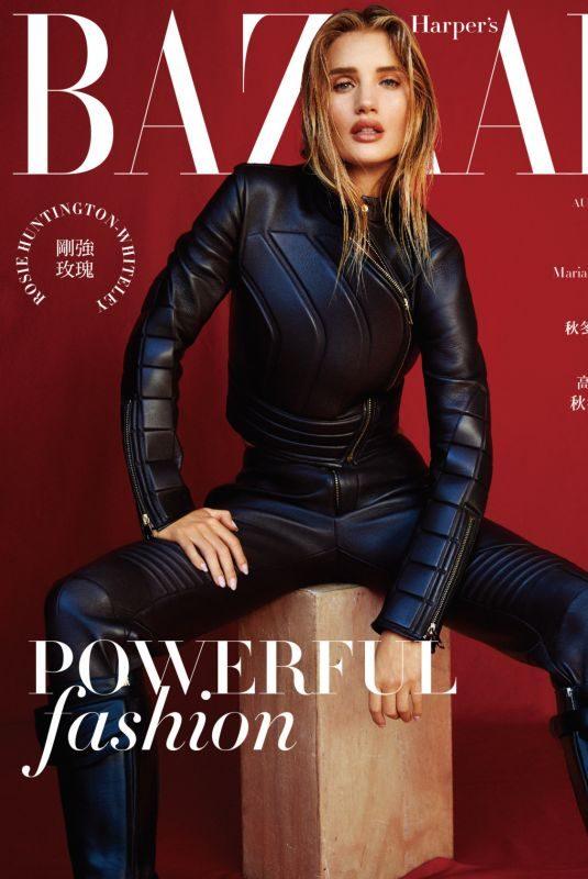 ROSIE HUNTINGTON-WHITELEY in Harper's Bazaar Magazine, Taiwan August 2019