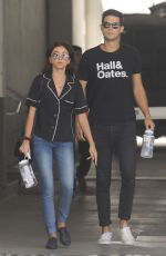 SARAH HYLAND and Wells Adams Out and About in Los Angeles 08/01/2019