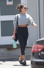 SARAH HYLAND Leaves Pilates Class in Los Angeles 08/12/2019