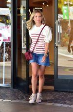 SARAH MICHELLE GELLAR in Denim Skirt Leaves American Girl Store in Los Angeles 08/20/2019