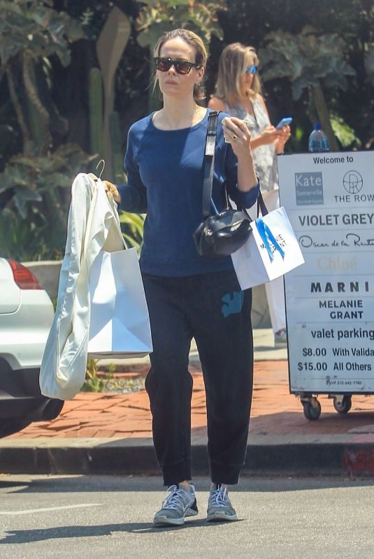 SARAH PAULSON Out Shopping on Melrose Place in Hollywood 08/07/2019