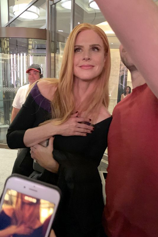 SARAH RAFFERTY on the Set of Suits Final and Last Episode in Toronto 08/19/2019
