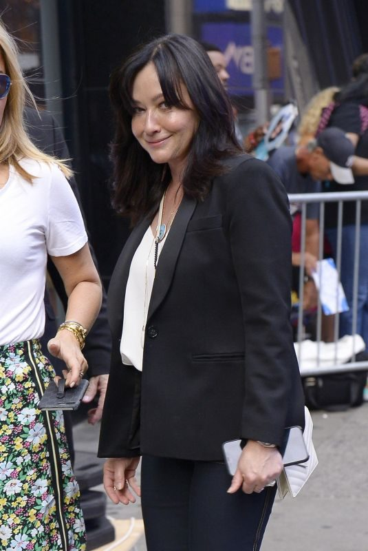 SHANNEN DOHERTY Arrives at Good Morning America in New York  08/05/2019