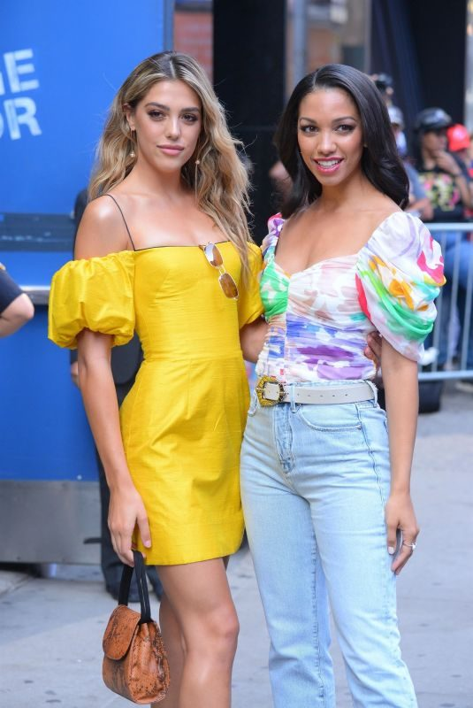 SISTINE ROSE STALLONE and CORINNE FOXX Arrves at Good Morning America in New York 08/05/2019