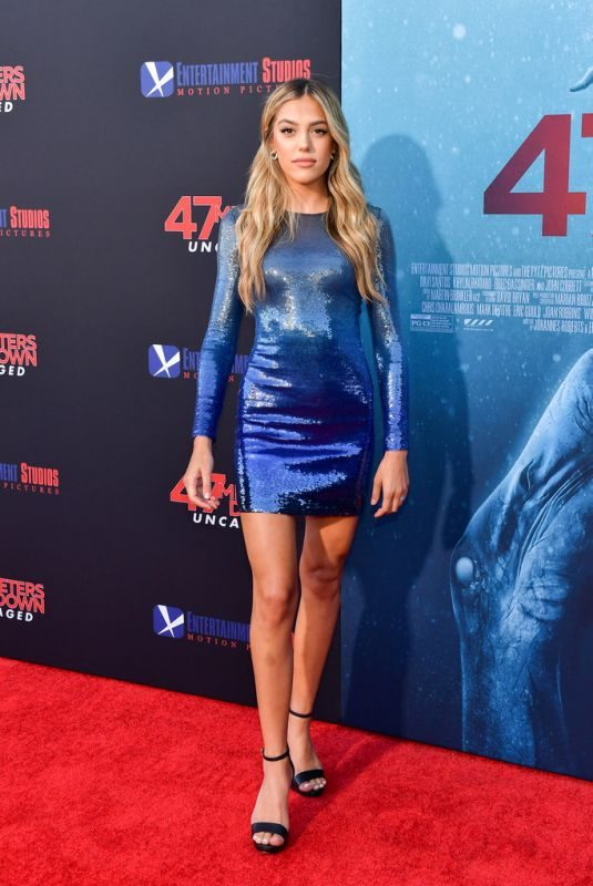 SISTINE ROSE STALLONE at 47 Meters Down Uncaged Premiere in Westwood 08/13/2019