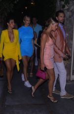 SOFIA RICHIE and ANASTASIA KARANIKOLAOU Night Out in Capri 08/08/2019