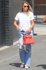 SOFIA RICHIE in Ripped Jeans Out Shopping in Beverly Hills 08/03/2019