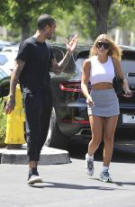 SOFIA RICHIE Out for Early Birthday Lunch in Calabasas 08/23/2019