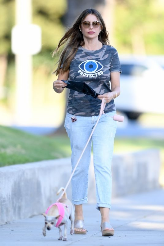 SOFIA VERGARA Out with Her Dog in Beverly Hills 08/17/2019