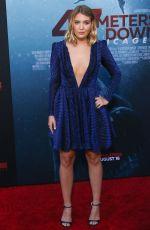 SOPHIE NELISSE at 47 Meters Down: Uncaged Premiere in Los Angeles 08/13/2019