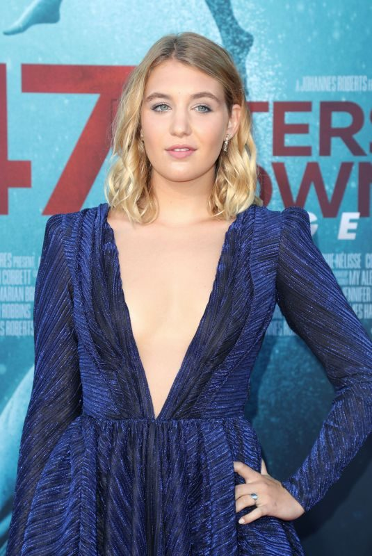 SOPHIE NELISSE at 47 Meters Down: Uncaged Premiere in Los Angeles 08/13/2019