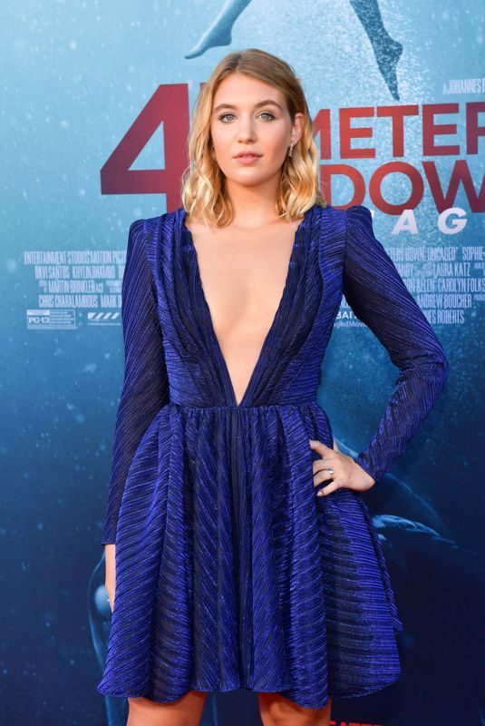 SOPHIE NELISSE at 47 Meters Down Uncaged Premiere in Westwood 08/13/2019