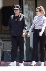 SOPHIE SIMMONS and Her Father Gene Simmons Out for Breakfast in Los Angeles 08/01/2019
