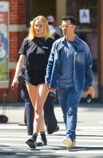 SOPHIE TURNER and Joe Jonas Out Kissing in New York 08/29/2019