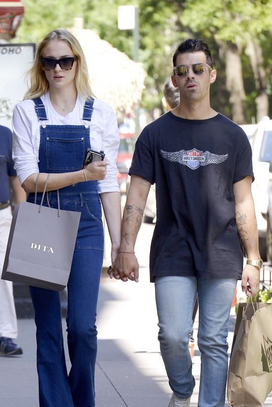 SOPHIE TURNER and Joe Jonas Shopping at Dita and Rei Stores in New York 08/26/2019