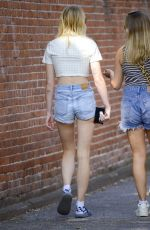SOPHIE TURNER in Denim Shorts Out in New York 08/20/2019