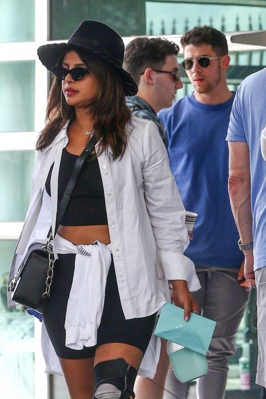 SOPHIE TURNER, PRIYANKA CHOPRA and Nick and Joe Jonas at Airport in Miami 08/08/2019