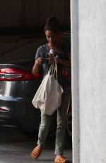 THANDIE NEWTON Arrives at Her Home in Los Feliz 08/05/2019