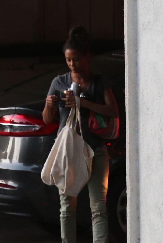 THANDIE NEWTON Arrives at Her Home in Los Feliz 08/05/2019