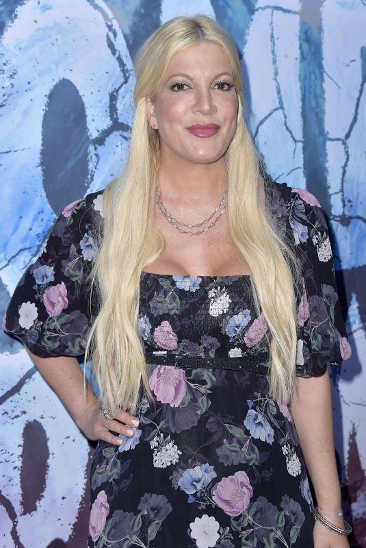 TORI SPELLING at Zombie Tidal Wave in Los Angeles 08/12/2019