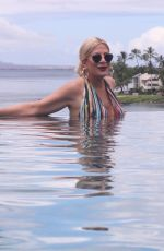 TORI SPELLING in Swimsuit on Vacation in Hawaii 08/27/2019