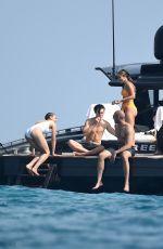 VANESSA HUDGENS in Bikini at a Yacht with Nathalie Emmanuel in Porto Cervo 08/11/2019