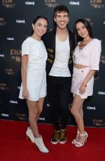 VERONICA and VANESSA MERRELL at Escape the Night Escape Room Experience in Los Angeles 08/08/2019