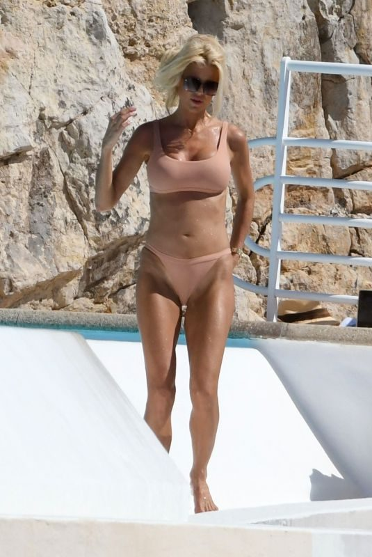 VICTORIA SILVSTEDT in Bikini at Hotel Du Cap Eden Roc in Antibes 08/15/2019