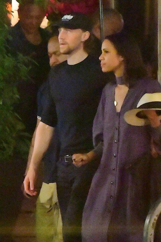ZAWE ASHTON and Tom Hiddleston Night Out in New York 08/12/2019