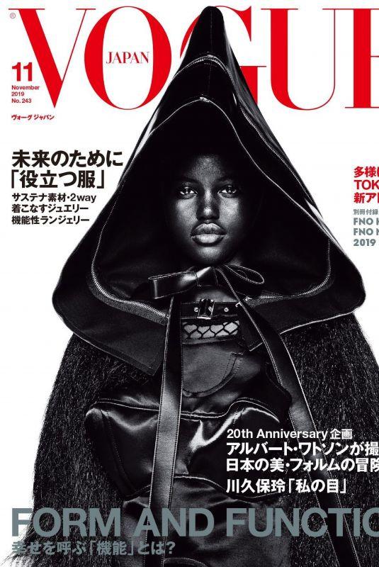 ADUT AKECH in Vogue Magazine, Japan November 2019