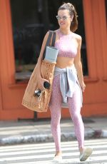 ALESSANDRA AMBROSIO in Tights Leaves a Gym in Santa Monica 09/19/2019