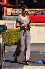 ALESSANDRA AMBROSIO Makeup Free Out in Los Angeles 09/14/2019