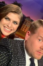 ALEXANDRA DADDARIO at Late Late Show with James Corden 09/11/2019
