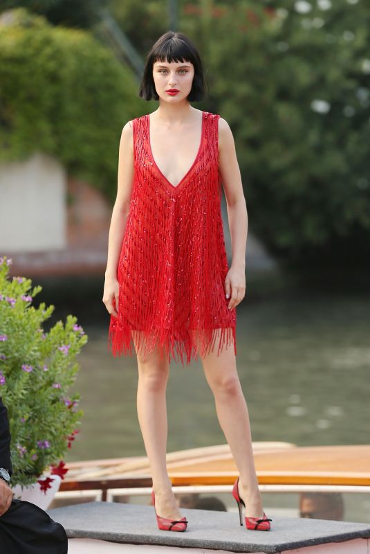 ALICE PAGANI Arrives at Excelsior Hotel in Venice 08/31/2019