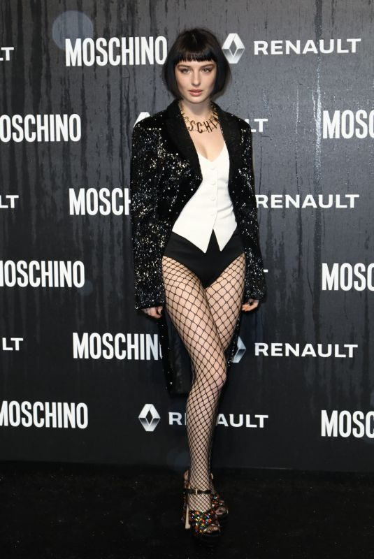 ALICE PAGANI at Jeremy Scott's Moschino Men's Show in Rome 01/08/2019