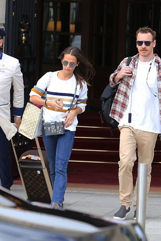 ALICIA VIKANDER and Michael Fassbender Out in Paris 09/05/2019