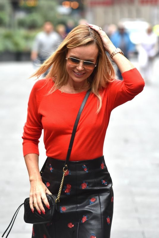 AMANDA HOLDEN Leaves Global Studios in London 09/16/2019