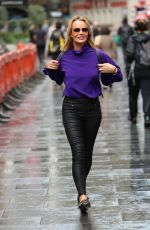 AMANDA HOLDEN leaves Heart Radio Show in London 09/24/2019