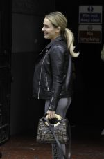 AMBER DAVIES Arrives at Palace Theatre in Manchester 09/18/2019